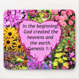 PRETTY FLORAL GENESIS 1:1 PHOTO DESIGN MOUSE PAD