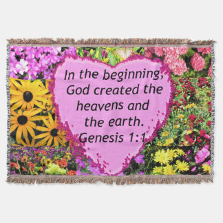 PRETTY FLORAL GENESIS 1:1 PHOTO DESIGN THROW BLANKET