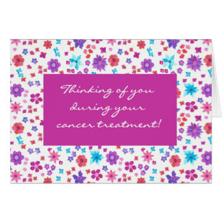 Pretty Floral Get Well Cancer Treatment Support Card