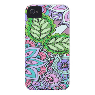 Pretty Floral Hand Drawn Doodle Pattern iPhone 4 Covers