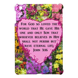 PRETTY FLORAL JOHN 3:16 PHOTO DESIGN iPad MINI CASES