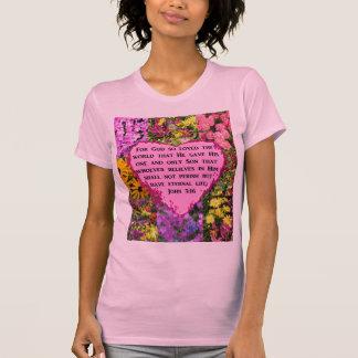 PRETTY FLORAL JOHN 3:16 PHOTO DESIGN T-Shirt