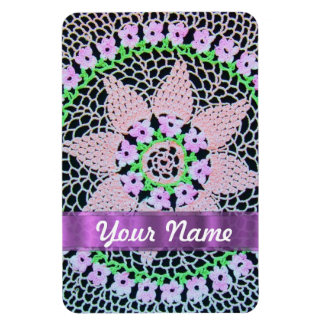 pretty floral lace magnet