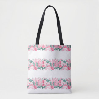 Pretty floral large tote bag