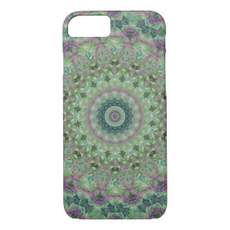 Pretty Floral Light Green and Purple Mandala iPhone 8/7 Case