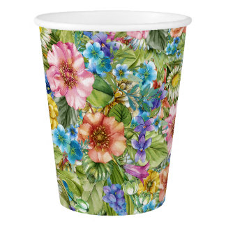 Pretty Floral Party Goods Cups Paper Cup