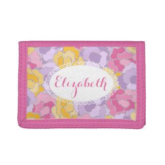 Pretty Floral Pattern Personalized Wallet