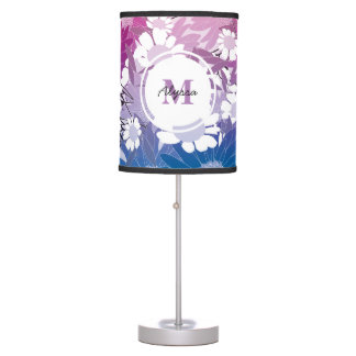 Pretty Floral Patterned Personalized Lamp