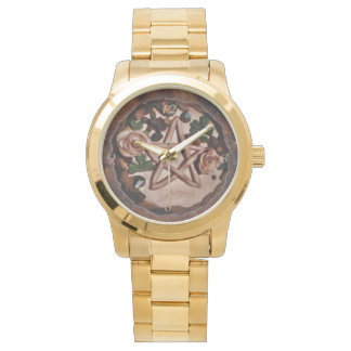 Pretty Floral Pentacle Witch Wiccan Pagan Watch