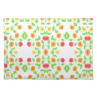 Pretty Floral Print Placemats