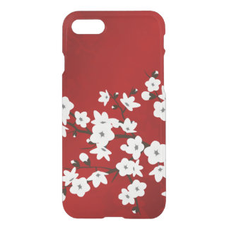 Pretty Floral Red White Cherry Blossom iPhone 8/7 Case