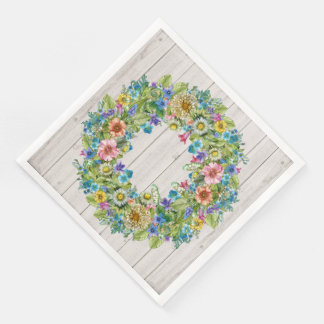 Pretty Floral Rustic Party Goods Napkins