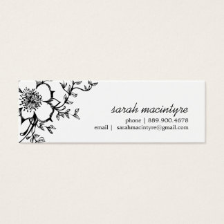 Pretty Floral /  Small Calling Cards