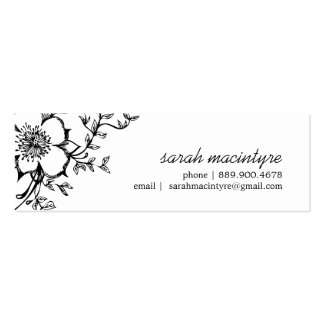 Pretty Floral /  Small Calling Cards Mini Business Card