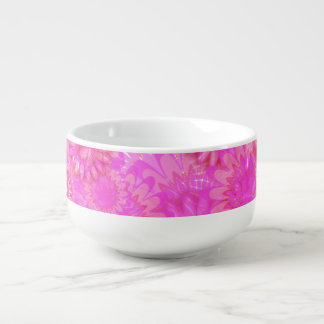 Pretty floral. soup bowl with handle