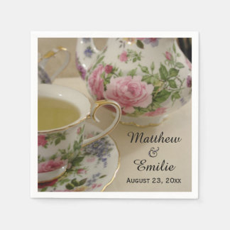 Pretty Floral Teapot and Teacup Napkins Disposable Napkin