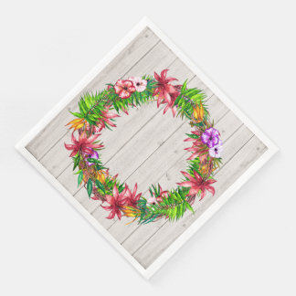 Pretty Floral Tropical Party Goods Napkins