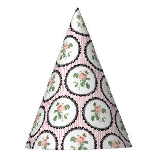 Pretty Floral Wallpaper Party Hat