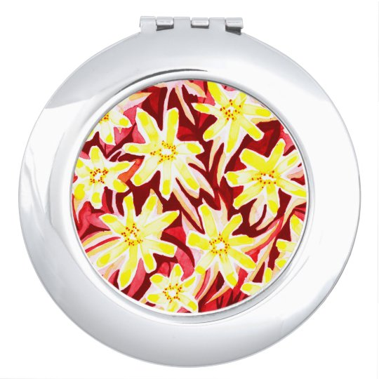 Pretty Floral Watercolour Compact Mirror