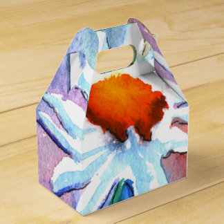 Pretty Floral Watercolour Favor Gift Boxes