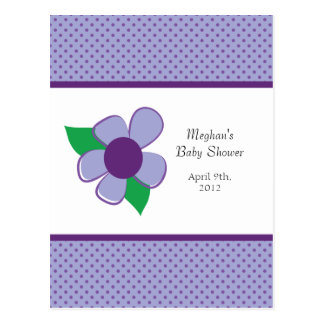 Pretty flower -baby shower advice cards post cards