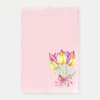 Pretty Flower Design Post it notes