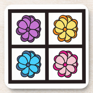 Pretty Flower Drawing Coaster