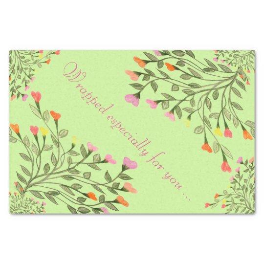 Pretty Flower Heart Tree Tissue Paper