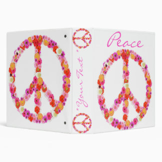 Pretty Flower Peace Sign Binder Design