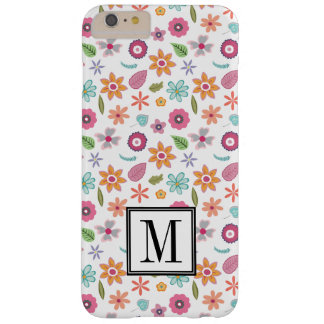 Pretty Flower Print Initial Monogram Barely There iPhone 6 Plus Case