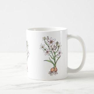 Pretty Flowering Bulbs Mug, in Whites and Pinks Coffee Mug