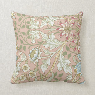 Pretty flowers and vines on throw pillow