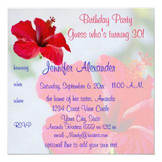 Pretty Flowers Birthday Party Card
