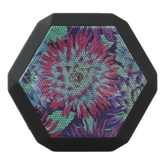 Pretty Flowers Black Bluetooth Speaker