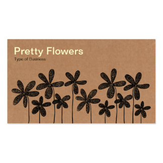 Pretty Flowers - Cardboard Box Texture Pack Of Standard Business Cards