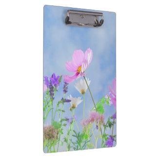 Pretty Flowers in delicate colours Clipboard