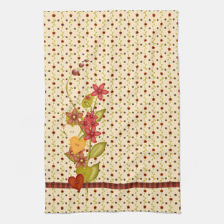 Pretty Flowers Kitchen Towel