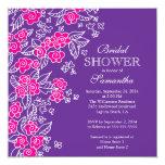 Pretty Flowers Modern Pink & Purple Bridal Shower
