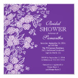 Pretty Flowers Modern Purple & white Bridal Shower