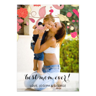 Pretty flowers Mothers Day Photo Card