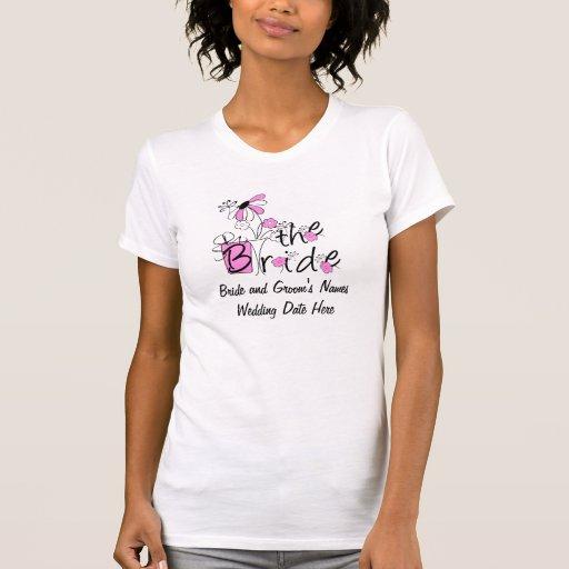 Pretty Flowers The Bride Customizable T-shirt