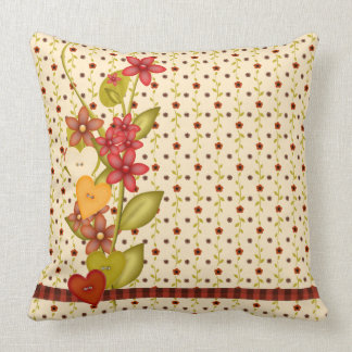 Pretty Flowers Throw Pillow