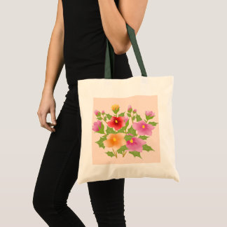 pretty flowers tote bag