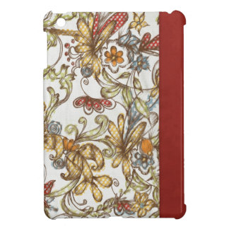 pretty flowers with Red Side Color iPad Mini Case