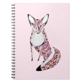 Pretty fox notebooks