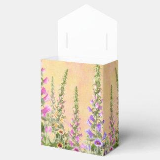 Pretty foxglove flowers favor box