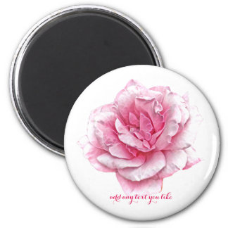 Pretty fractal rose magnet add your own text