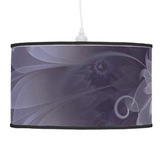 Pretty Fractal Triskelion Purple Passion Flower Pendant Lamp