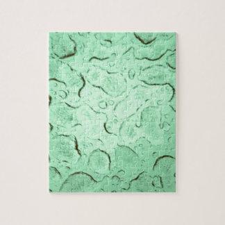 Pretty Frozen Drops on Glass Color Swap Jigsaw Puzzle