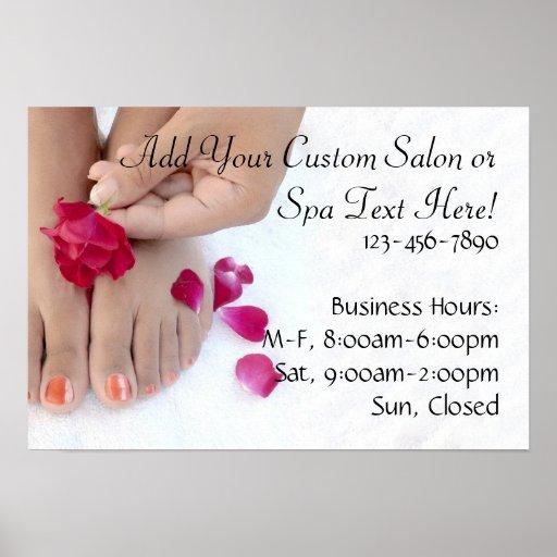 Pretty Fuchsia Pink Rose Pedicure Salon Print